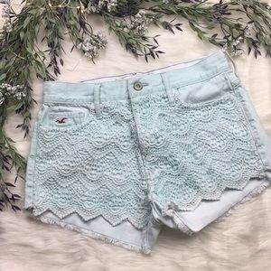 Hollister High Waisted Lace Festival Shorts